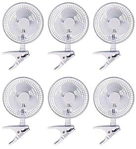 """(6) Hydrofarm acfc6activa aire 6""""clip on oficina cocina, cultivos hidropónicos crecer ventiladores–-P # ewt4365234r3fa619575"""