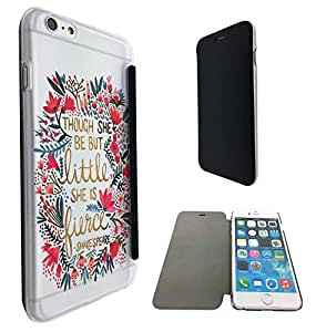 214 - Floral Shabby Chic shakespeare quote Design iphone 6 6S 4.7'' Fashion Trend Funky Smart Clear Plastic & TPU Flip Case Full Cover Purse Pouch Defender Book Case