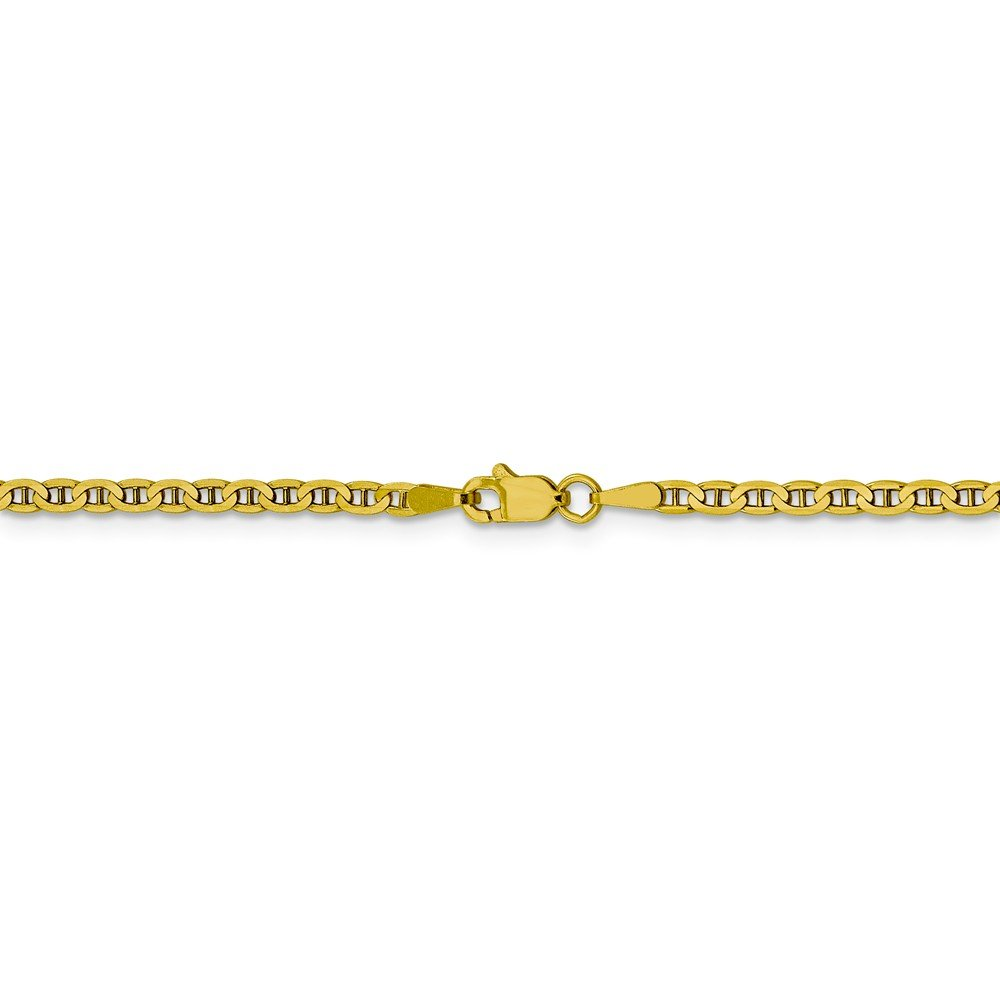 Mia Diamonds 10k Yellow Gold 3.0mm Flat Anchor Chain Necklace