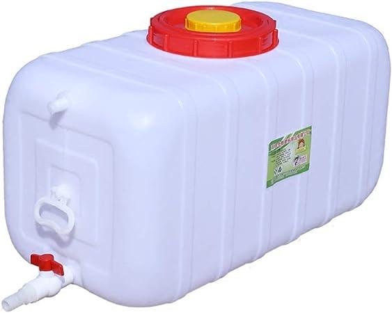 RSH 150L Bidón Plástico con Grifo Depósito De Agua Contenedor De Agua Gran Capacidad Cubo De Plástico Cuadrado Almacenamiento De Agua Tanque De Agua con Tapa por Agua del Hogar Cámping Excursionismo: