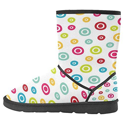 Boots Designed Multi Snow InterestPrint Boots Unique Womens Winter 22 Comfort 7FBqFvAw