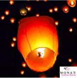 Sky Lanterns,40 Sets Chinese Wishing Lanterns, 100% Biodegradable And Fully Assambeled (White)