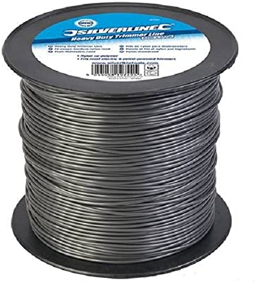 Silverline 427692 - Hilo de nylon para desbrozadora (2 mm x 377 m ...