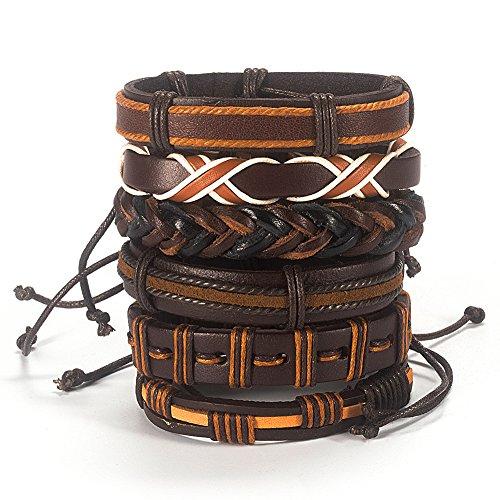Bogo Arty Multi-style Fashion Leather Bracelet Handmade Braided Wristband Adjustable Unisex - Style Bogo