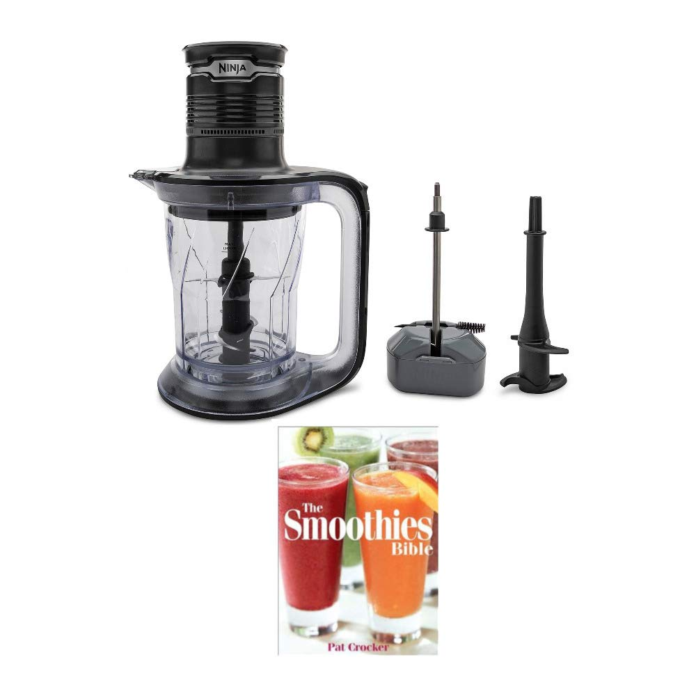 Ninja PS101 Ultra Prep Food Processor & Blender with 700W Pod for Dough, Smoothies, Chopping, Blending + Cookbook (Renewed) (2 Items)