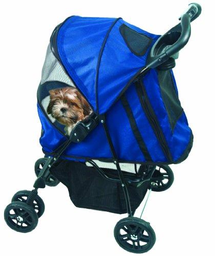 Pet Gear PG8100ST Happy Trails Pet Stroller, Cobalt Blue, My Pet Supplies