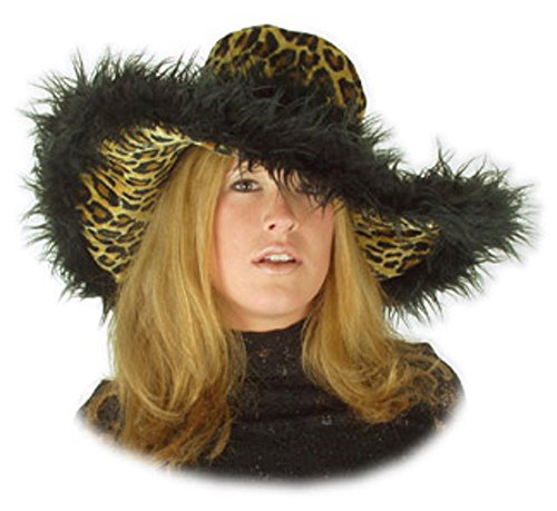 Leopard Fur Sugar Daddy Hat -