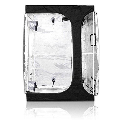 "BloomGrow 2-in-1 60""x48""x80"" 600D High Reflective Mylar Hydroponic Water-Resistant Grow Tent with Sturdy Corner Removable Floor Tray for Indoor Plant Growing (60""X48""X80"") Review"