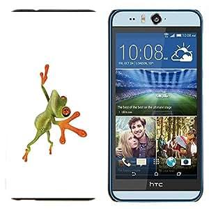 GIFT CHOICE / Teléfono Estuche protector Duro Cáscara Funda Cubierta Caso / Hard Case for HTC Desire Eye M910x // Orange Jungle Frog //