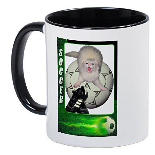 CafePress - Soccer Ferret Mug - Unique Coffee Mug, Coffee (Ferret Soccer Ball)
