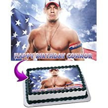 John Cena WWE Edible Cake Image Topper Personalized Icing Sugar Paper A4 Sheet Edible Frosting Photo Cake 1/4 ~ Best Quality Edible Image for cake