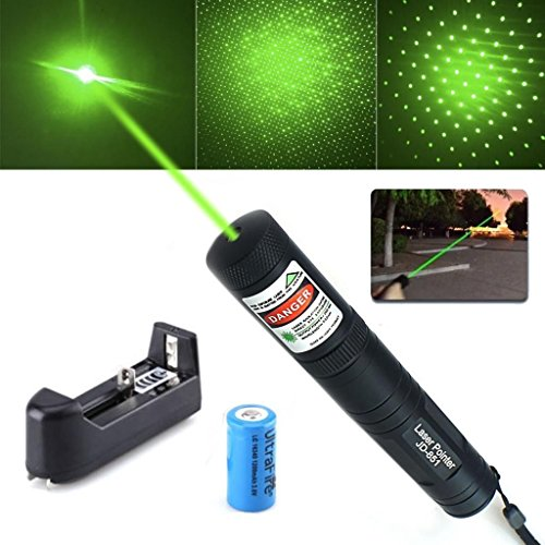 (Tactical Green Hunting Rifle Scope Sight Laser Pen +Batt+Charger Demo Remote Pen Pointer Projector Travel Outdoor Flashlight LED Interactive Baton Funny Laser toy (Red Laser Pen))