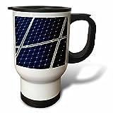3dRose Alexis Photography - Objects - Dark blue solar power panel, white frame, diagonal view - 14oz Stainless Steel Travel Mug (tm_271346_1)