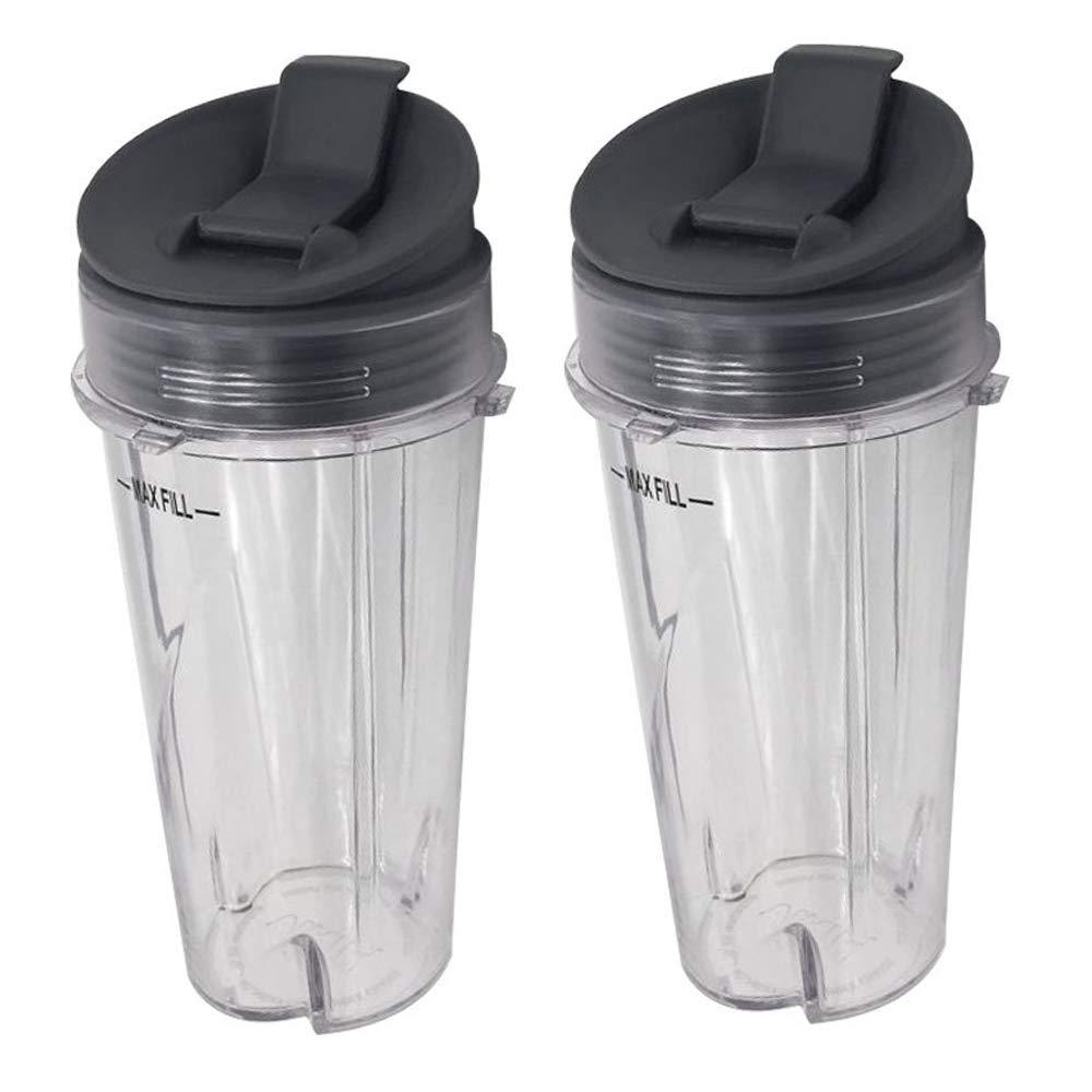 2piece 16oz ninja replacement cup with lid for Nutri Ninja with BL660/BL663/BL663CO/BL665Q/BL771/BL773CO/BL810/BL820/BL830/QB3000/QB3000SSW/QB3004/QB3005