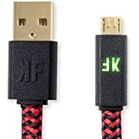 KontolFreek 12 feet Micro USB Performance Gaming Cable (Red) for PlayStation 4 (PS4) and Xbox One Controller