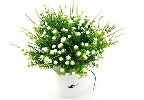 Bird Fiy 4 Bundles Artificial Gypsophila Flower Wedding Home Decor Gift(White)