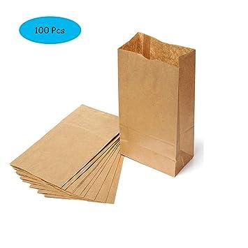 Weanty 100 Unids Kraft Comida Bolsa de papel Pan de pan ...