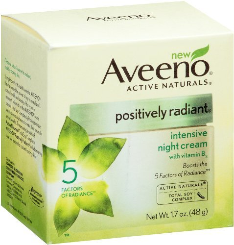 Aveeno Positively Radiant Intensive Night Cream, 1.7 Ounce by Aveeno