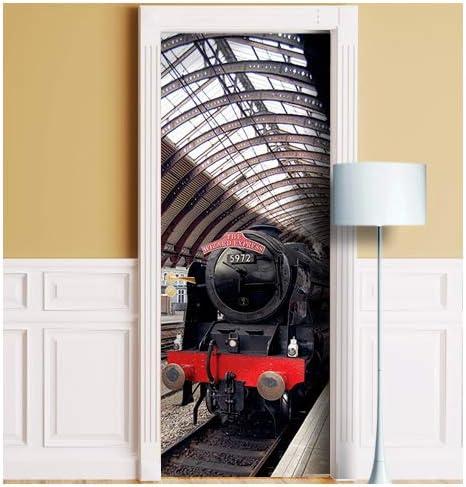 + Fridge Mural Sticker Decal Self-Adhesive Harry Potter Platform Door Wrap