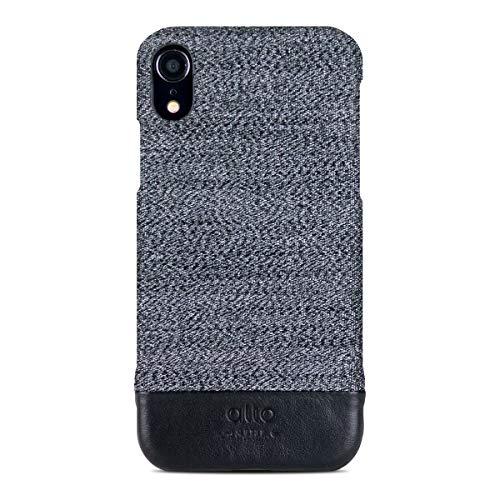 Brown Leather Denim - Alto Handmade Premium Italian Leather Case Apple iPhone XR Denim (Wolf Grey)