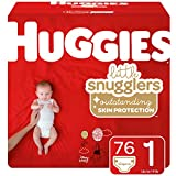 Huggies Little Snugglers Baby Diapers, Size 1 (up to 14 lb.), 76 Ct, Big Pack (Packaging May Vary)