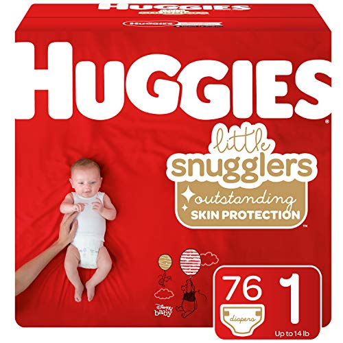 Huggies Little Snugglers Diapers, Size 1, 76 Count (Packaging May Vary)