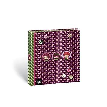 archivador pequeño a5 4 anillas 2,5 cm AMORE: Amazon.es: Juguetes y juegos