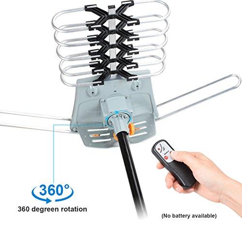 HDTV antenna-skytv Amplified antena de TV digital 150 millas largo alcance ático HD antena con 360 ° rotación - Mando a distancia inalámbrico - 33 ft cable ...