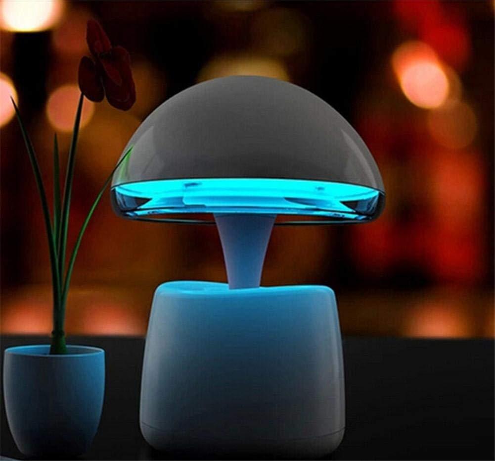 ワイヤレススピーカー, 目覚まし時計A LAマジックランプ3 in 1クリエイティブワイヤレスBluetoothスピーカー(夜間照明付き)目覚まし時計機能サポートTFカードUSB入力 B07SGM3TFR