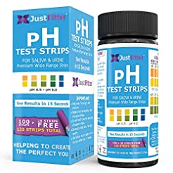 Just Fitter pH Test Strips for Testing A...