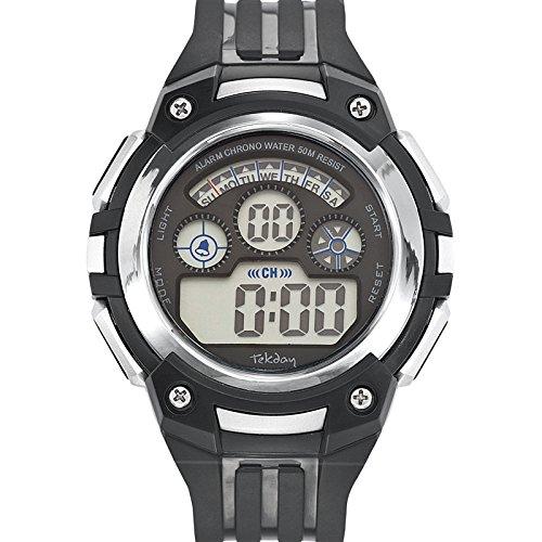 Tekday Reloj Analogico-Digital para Unisex Correa en Sintetico 654621: Amazon.es: Relojes