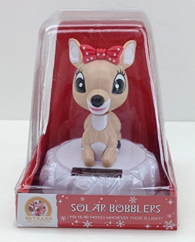 Clarice Solar Bobbler, Rudolph the Red-nosed Reindeer