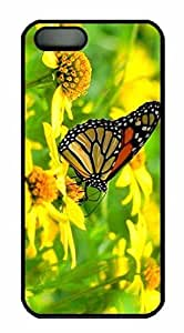 Protective PC Case Skin for iphone 5 Black PC Case Back Cover Shell for iphone 5S with Butterfly