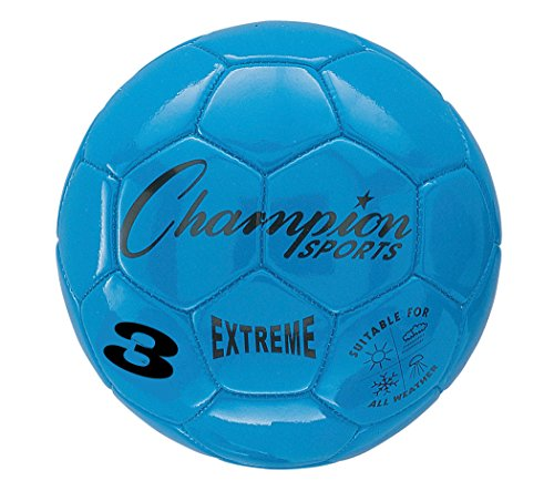 Champion Sports Extreme Series Size 3 Composite Soccer Ball, Blue