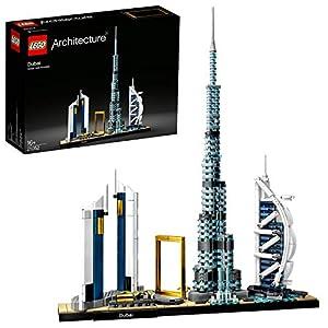 LEGO Architecture Modèle Dubaï, Skyline Collection, Ensemble de construction à collectionner, 129 pièces, 21052
