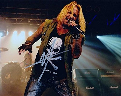 Vince Neil Signed - Autographed Motley Crue Concert 8x10 inch Photo - Guaranteed to pass BAS - Beckett Authentication
