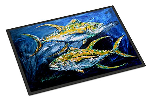 - Caroline's Treasures Fish Tuna Tuna Blue Indoor or Outdoor Doormat, 24