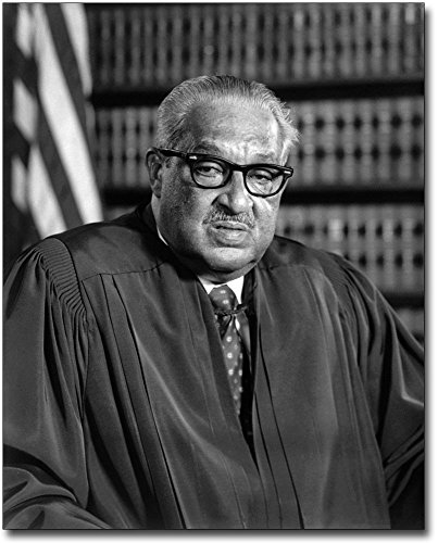 Thurgood Marshall Supreme Court Justice 8x10 Silver Halide Photo Print (Brown Vs Board Of Education Court Case)