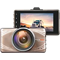 JVIN 1080P Car Dash Cam 170 Degree Wide Angle Lens 3 LCD Screen FHD Dashboard Camera Recoder Motion Detection G-sensor Parking Mode DVR Camcorder
