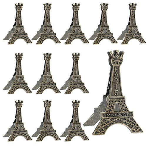 Wangyue Vintage Eiffel Tower Card Holder Clips Table Number Holder (12 -