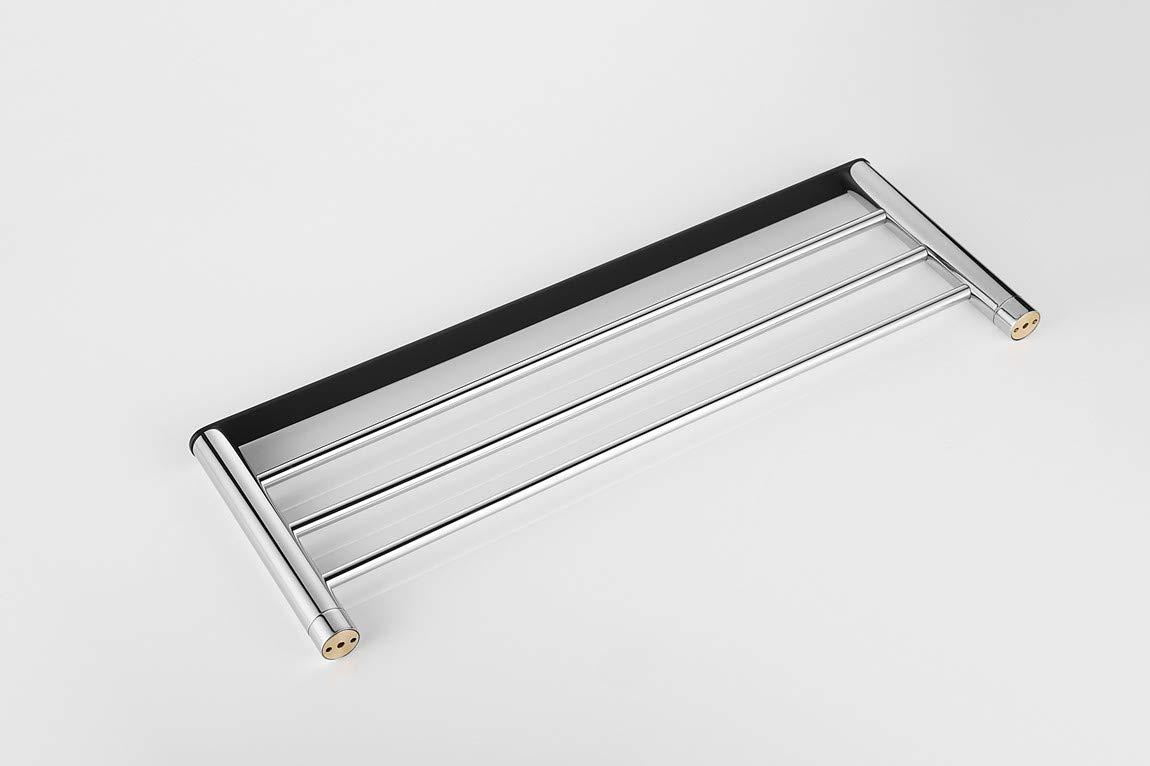 Bathsky SUS 304 Stainless Steel Bathroom Towel Rack, Mirror Polished, Black, Bathroom, Heavy Duty