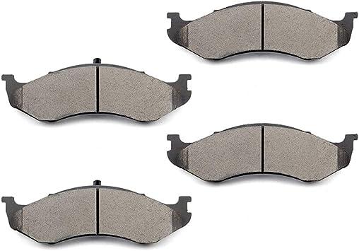 Front Ceramic Discs Brake Pads For 1990 1991-1992 Jeep Comanche 4pcs ATD477C