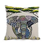 Cushion Cases Of Elephant 12 X 20 Inches / 30 By 50 Cm,best Fit For Wedding,chair,birthday,girls,coffee House,car Two Sides