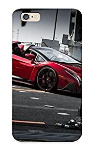 Iphone 6 Scratch-proof Protection Case Cover For Iphone/ Hot 2014 Lamborghini Roadster Supercar Veneno Rosso Red Italan Phone Case