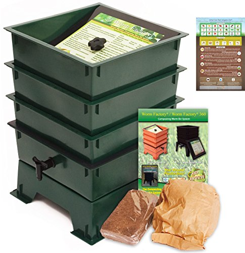 Worm Factory DS3GT 3-Tray Worm Composting Bin + Bonus