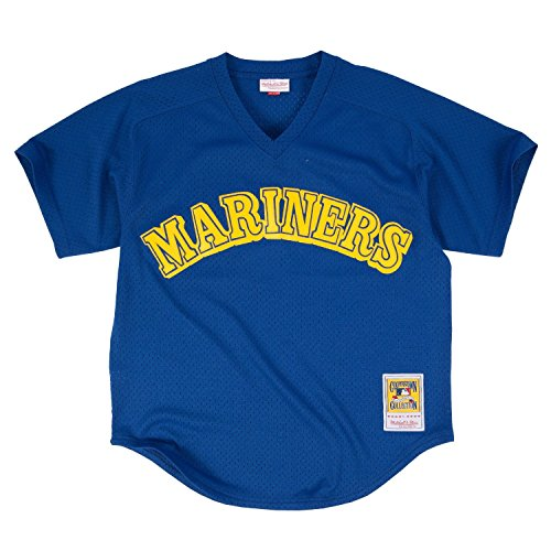 Ken Griffey Jr. 1991 Authentic Mesh BP Jersey Seattle Mariners (XX-Large 52)