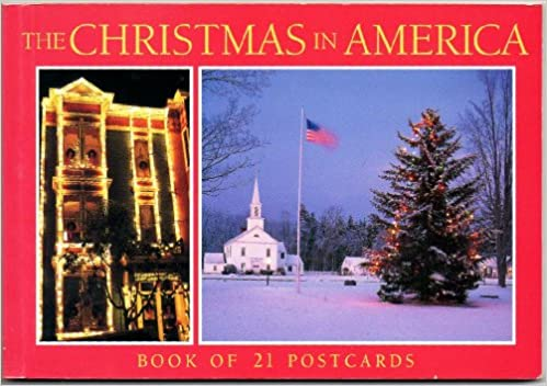 Christmas In America Book.The Christmas In America Book Of 21 Postcards Various