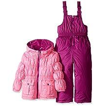 Pink Platinum girls Foil Star Printed Snowsuit