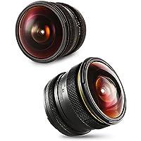 SainSonic Kamlan 8mm F/3.0 Wide Angle Manual Focus Fisheye Lens for Canon EOS-M Mount Mirrorless Digital Camera