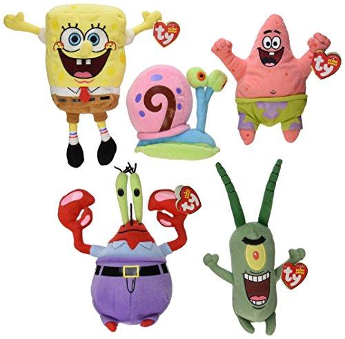TY Beanie Babies - SPONGEBOB SQUAREPANTS Beanies ( Set of 5 ) (Spongebob, Pat...